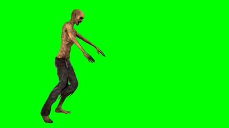 fosco : walking dead undead zombie walk - green screen