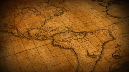 brown : vintage map of the world - motion background