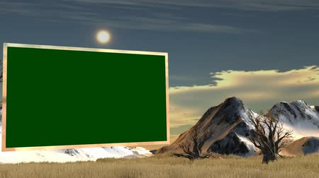 namibya : Savanne with Flat TV Green Screen - Virtual Studio Background