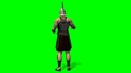 asker : Roman Soldier talk - green screen
