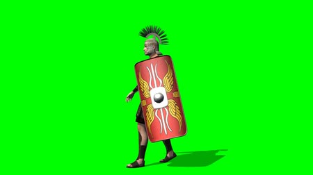 romano : Pantalla de a pie - verde Roman Soldier Archivo de Video