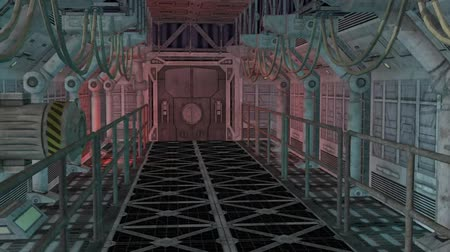 trave : Spaceship Corridor - Video Background