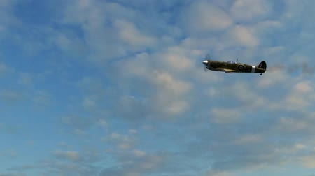 letadlo : Spitfire Supermarine WWII Airplane flying by