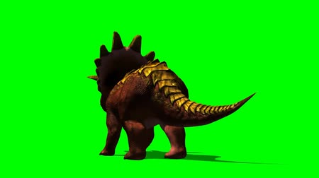 triceratops : Triceratops dinosaur death - green screen