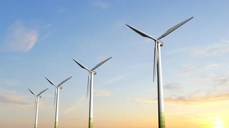 moinho de vento : Windmill Turbines - Clean Green Wind Energy