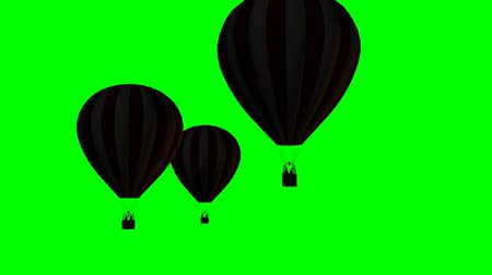 kappadokien : Heißluft Ballons Silhouette - green-screen  Videos