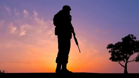 asker : Soldier at Sunset