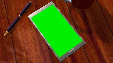 alfa : Smartphone Green Screen for Advertisement Presentation Commerce