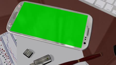 android : Smartphone Green Screen for Advertisement Presentation Commerce