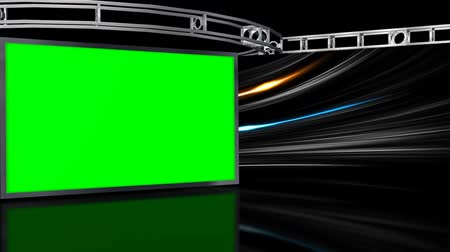 Virtuelles Studio-Hintergrund mit green-Screen-Wand  Videos