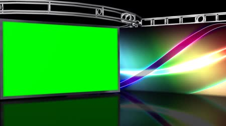 szoba : Virtual Studio Background with green screen Wall