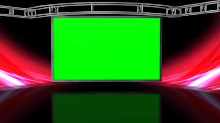 зеленый фон : Virtual Studio Background with green screen Wall