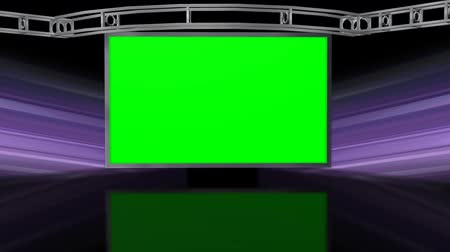 zeď : Virtual Studio Background with green screen Wall