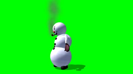 kardan adam : snowman dances - green screen