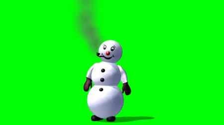 Schneemann winken - Green-Screen- Videos