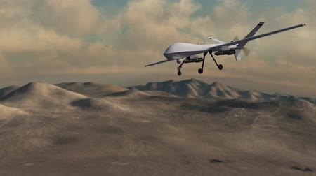 ragadozó : to armed reaper drone in flight over area 51
