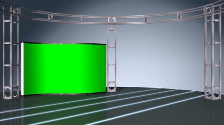 estúdio : virtual studio background - green screen