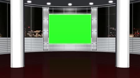 зеленый фон : virtual studio background - green screen