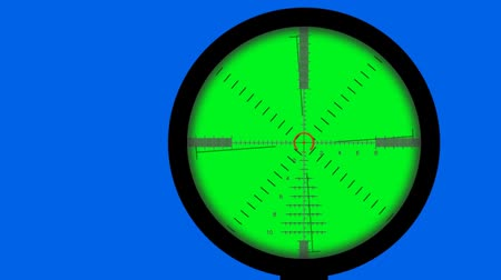 crosshair : crosshair animation - green screen Stock Footage