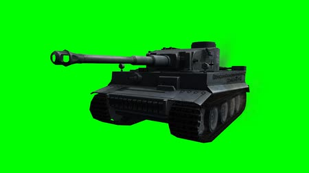 soldados : military tank in ride -  green screen