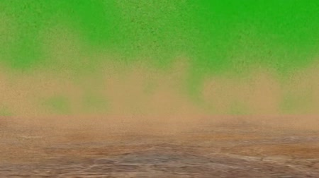 zöld : sandstorm in the desert on green screen Stock mozgókép