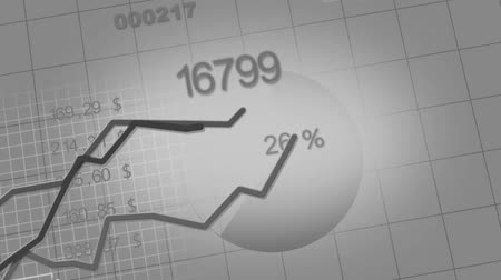 yüzde : growing charts animation black-white