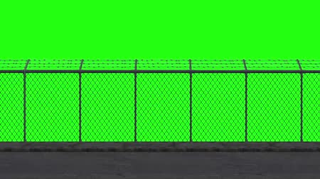 farpado : ride along the security fence - green screen