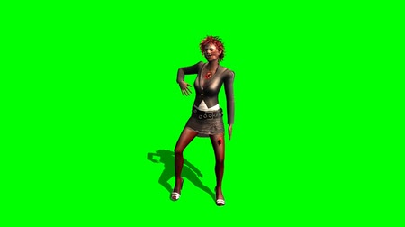 possessed : zombie woman the dancing dead - green screen