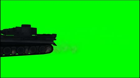 турель : Military Armored Fighting Vehicle in ride - 2 different views - green screen