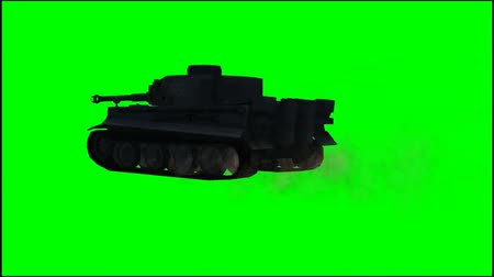 турель : Military Armored Fighting Vehicle in ride - green screen Стоковые видеозаписи