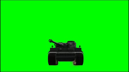 zbroja : Military Armored Fighting Vehicle in ride - green screen Wideo