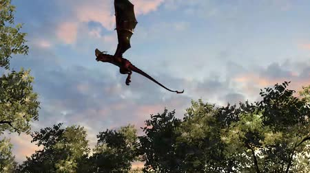 yaslanmak : dragon wyvern flying  on sky background