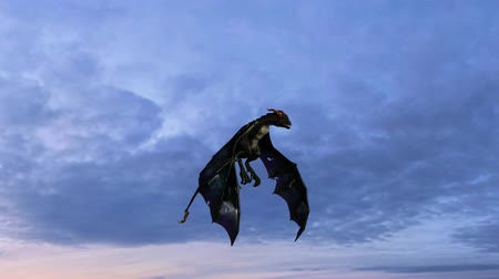 libélula : dragon in flight with clouds background