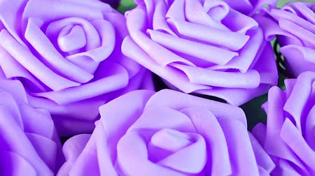gif : Bunch of roses rose bouquet wedding decor decoration diy foam flower Stock Footage