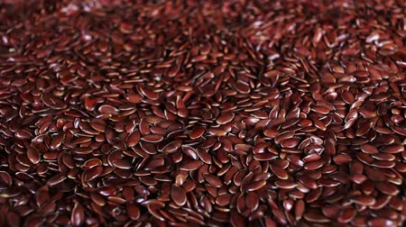 gif : Linseed linseeds flax seed seeds rotating closeup texture pattern background