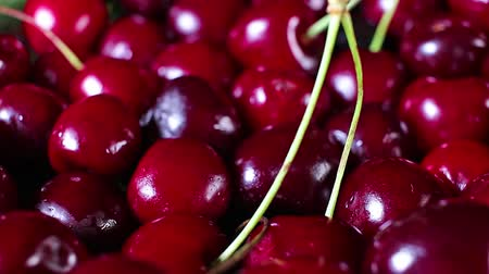 Dark red sweet cherry cherries summer fruit