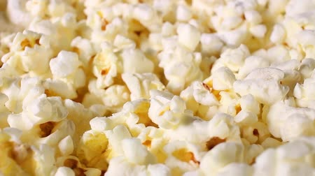 Popcorn popcorns rotating closeup texture pattern background Stok Video