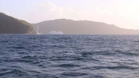 view of bequia from a sailboat