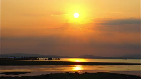 khong : Time Lapse of Sunrise over Khong river in Thailand.
