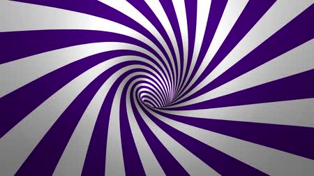 illúzió : Hypnotic spiral – swirl, purple and white background in 3D
