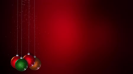 red background :  merry christmas Stock Footage