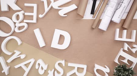 alphabet : Word idea Stock Footage