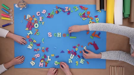 Children building words