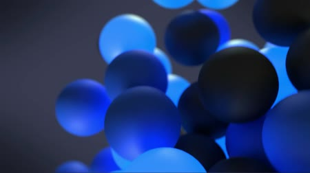 hírlevél : An Animation of Bouncing Blue and Black Balls Ending in a Subscribe Sign Video Title Screen Stock mozgókép