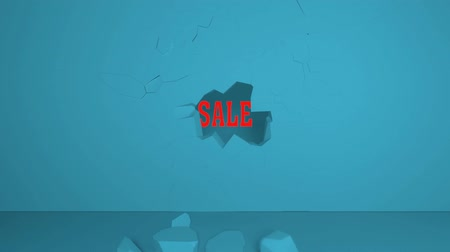 etiketler : An Animation of Breaks Through a Wall to Show a Sale Sign
