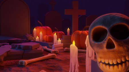 редактируемые : An Animation of Cemetery Scene Ending with a Subcribe Sign Coming Out of a Grave