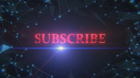 редактируемые : An Animation of A Polygon Title Screen With a Subscribe Sign
