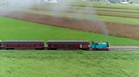 puffing : Strasburg, Pennsylvania, September, 2018 - Thomas the Train Puffing along Amish Country Farm lands