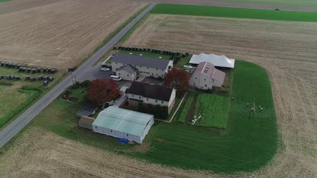 volleyball : Amish Wedding in an Amish Farm Captured by a Drone