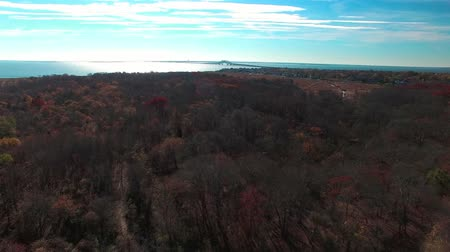 An Aerial View of Autumn on Long Island in New York State